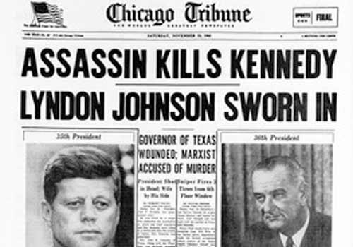 Image result for assassination JFK headline